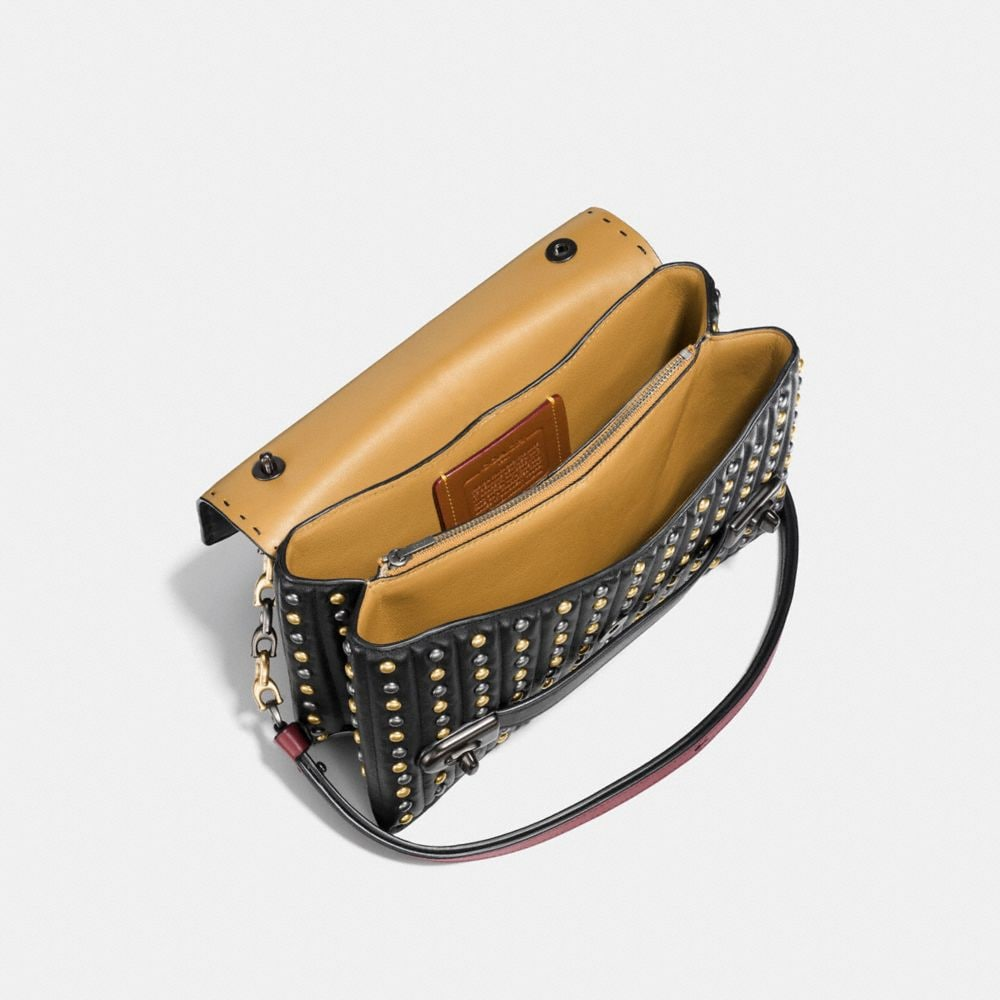 Coach Coach Swagger Chain Crossbody With Quilting and Rivets Alternate View 2