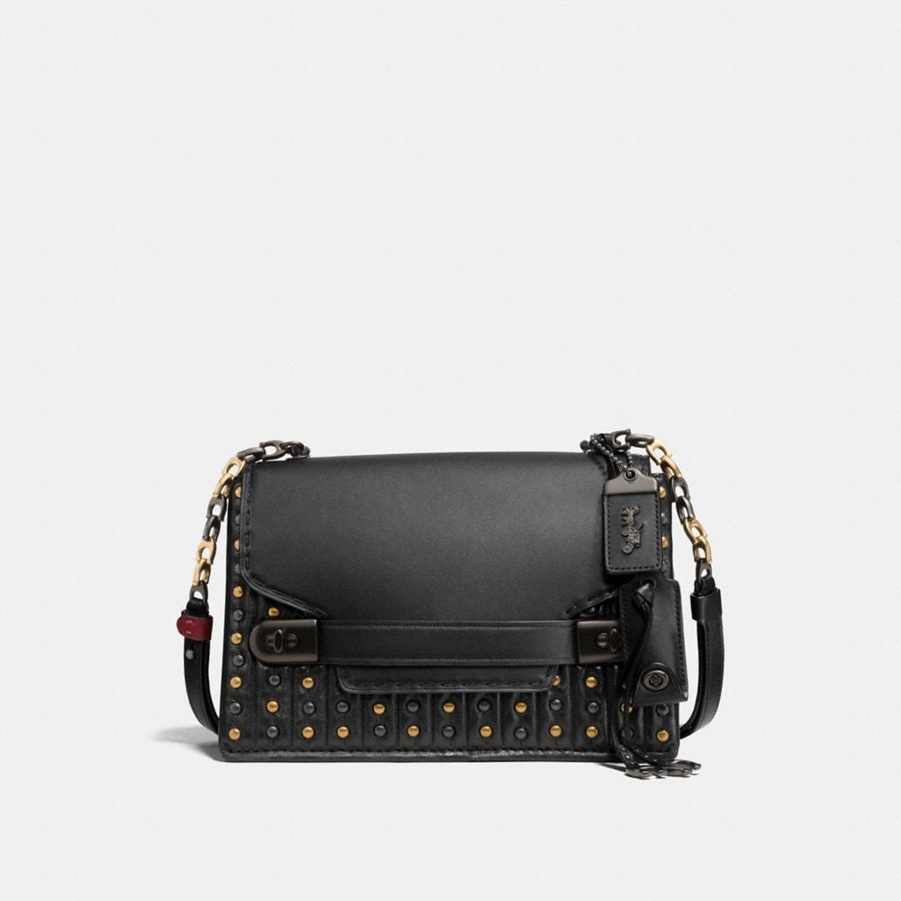 Coach Coach Swagger Chain Crossbody With Quilting and Rivets
