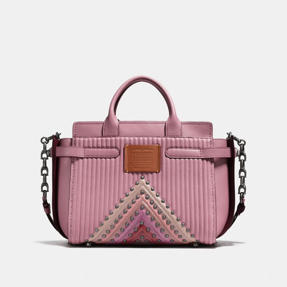 Coach Coach Double Swagger With Colorblock Quilting and Rivets Alternate View 2
