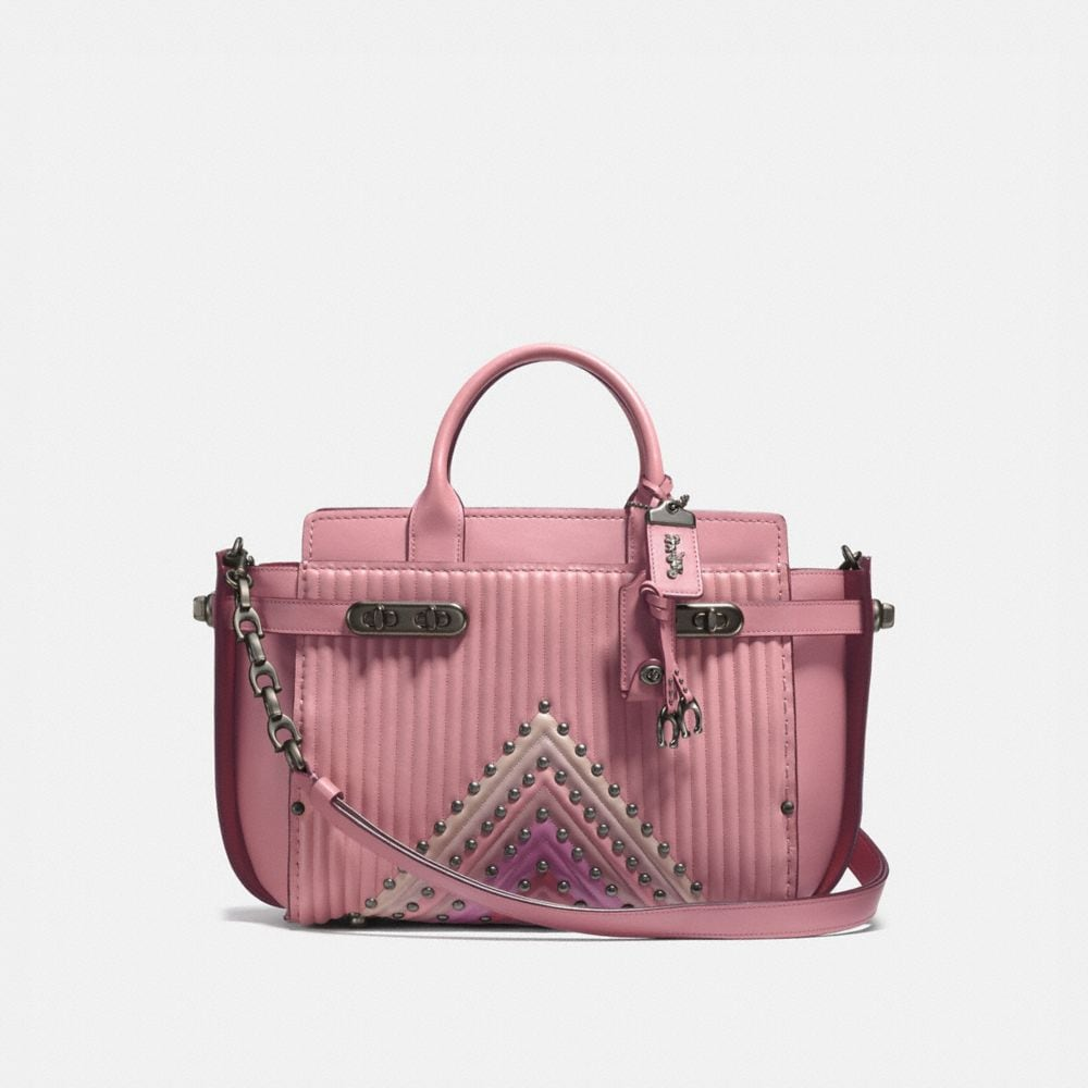 Coach Coach Double Swagger With Colorblock Qulting and Rivets