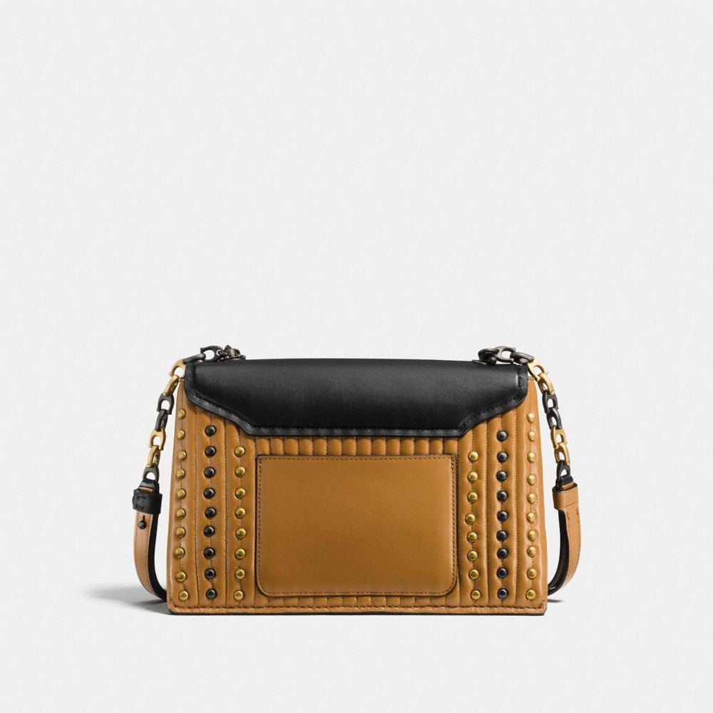 Coach Coach Swagger Chain Crossbody With Colorblock Quilting and Rivets Alternate View 2