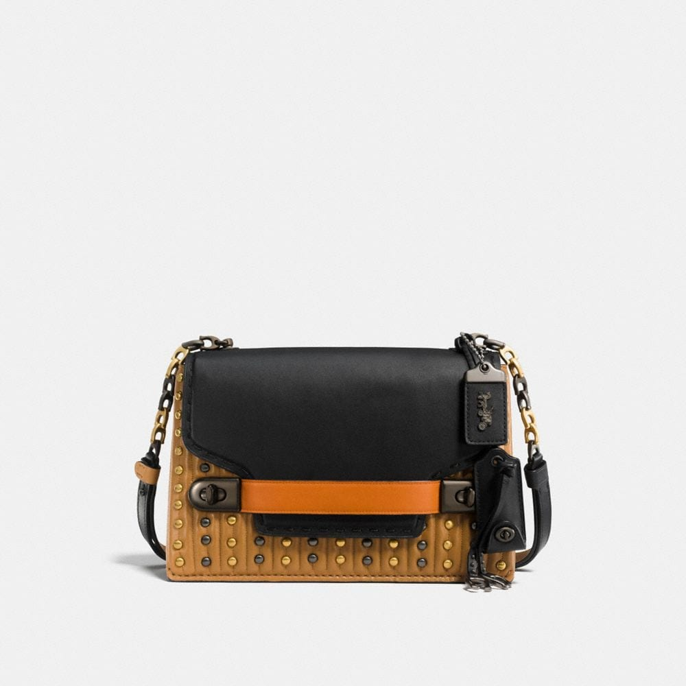 Coach Coach Swagger Chain Crossbody With Colorblock Quilting and Rivets