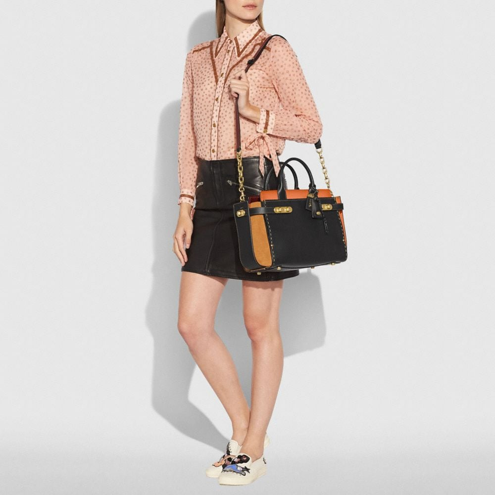 Coach Coach Double Swagger in Colorblock Alternate View 4