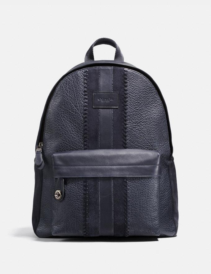 160bdcdfe8cd Coach Campus Backpack With Baseball Stitch Midnight Navy Black Antique  Nickel Men Bags Backpacks