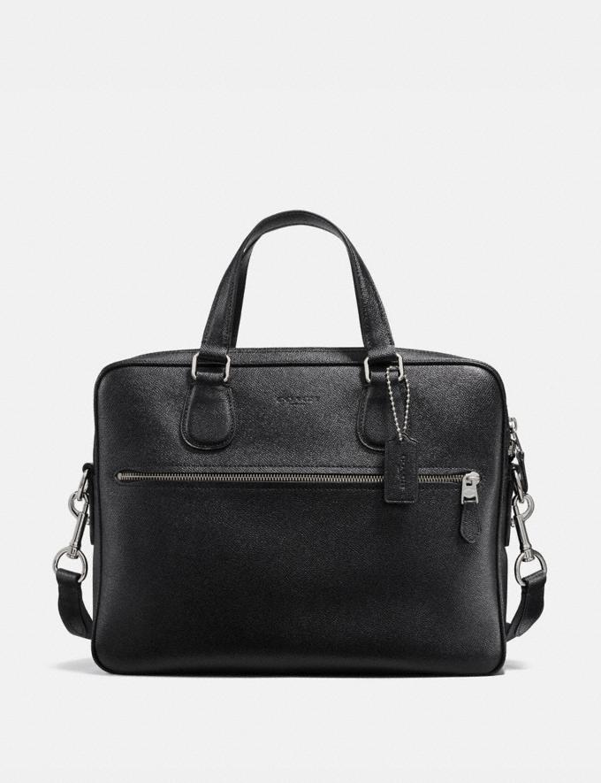 Coach Hudson 5 Bag Black/Silver SALE Men's Sale