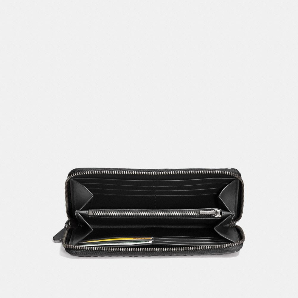 Coach Accordion Zip Wallet With Colorblock Quilting and Rivets Alternate View 1