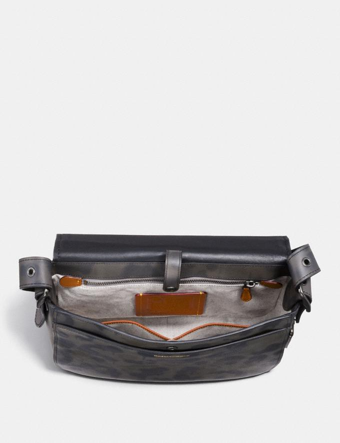 Coach Saddle 33 With Wild Beast Print Charcoal/Black Copper Finish Men Bags View All Alternate View 2