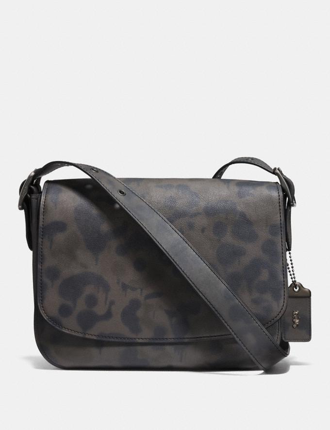 Coach Saddle 33 With Wild Beast Print Charcoal/Black Copper Finish Men Bags View All