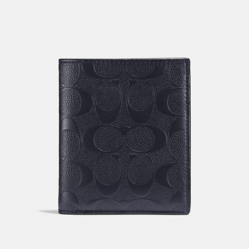 Coach Slim Coin Wallet in Signature Leather