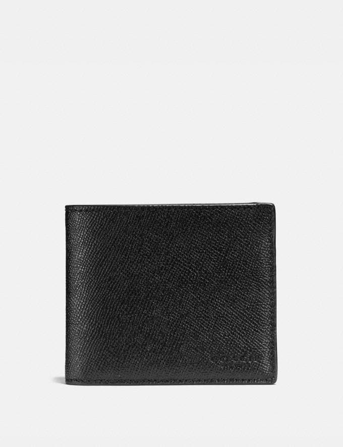 Coach 3-In-1 Wallet Black Men Wallets
