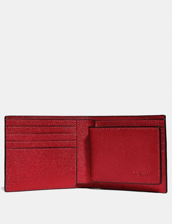 Coach 3-In-1 Wallet Dark Cardinal New Men's Trends Business Best Alternate View 1