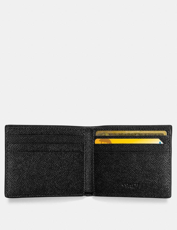 Coach Slim Billfold Wallet Black Men Wallets Alternate View 1