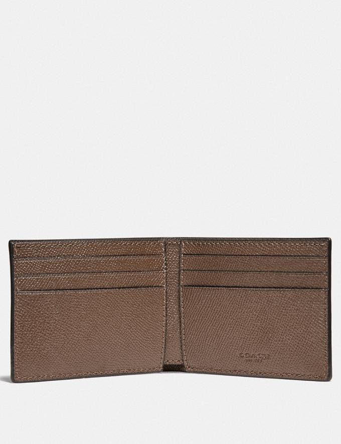Coach Slim Billfold Wallet Elm Customization Personalize It Monogram for Him Alternate View 1
