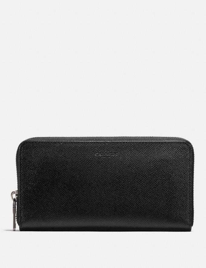 Coach Accordion Wallet Black New Men's Trends Business Best