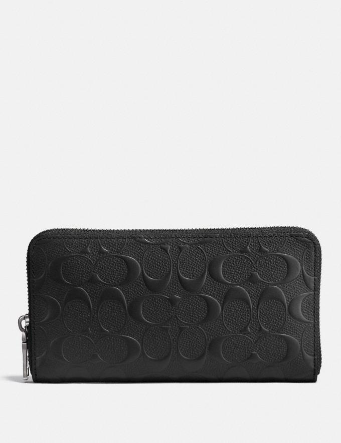 Coach Accordion Wallet in Signature Leather Black