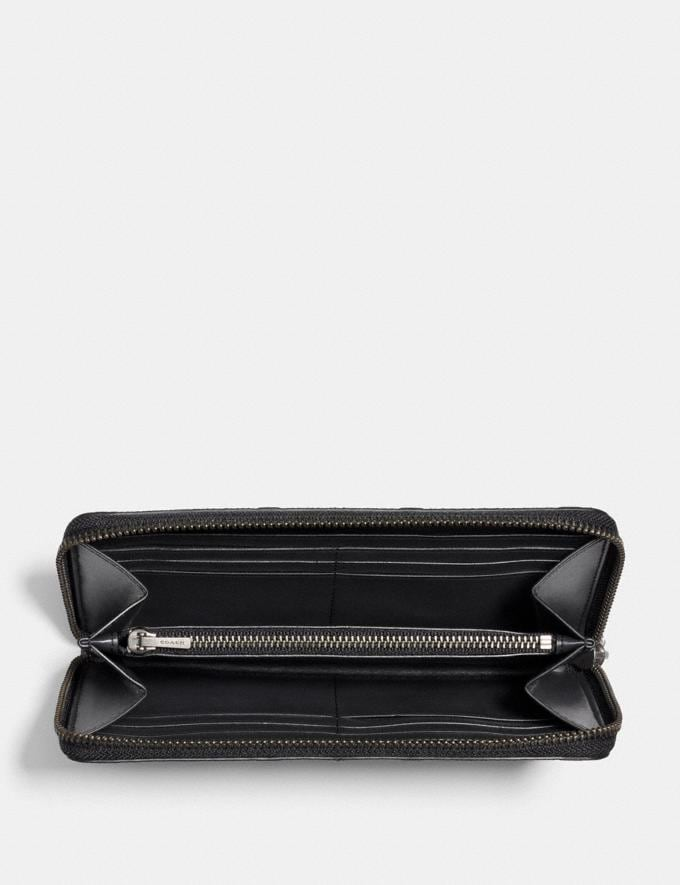 Coach Accordion Wallet in Signature Leather Black  Alternate View 1