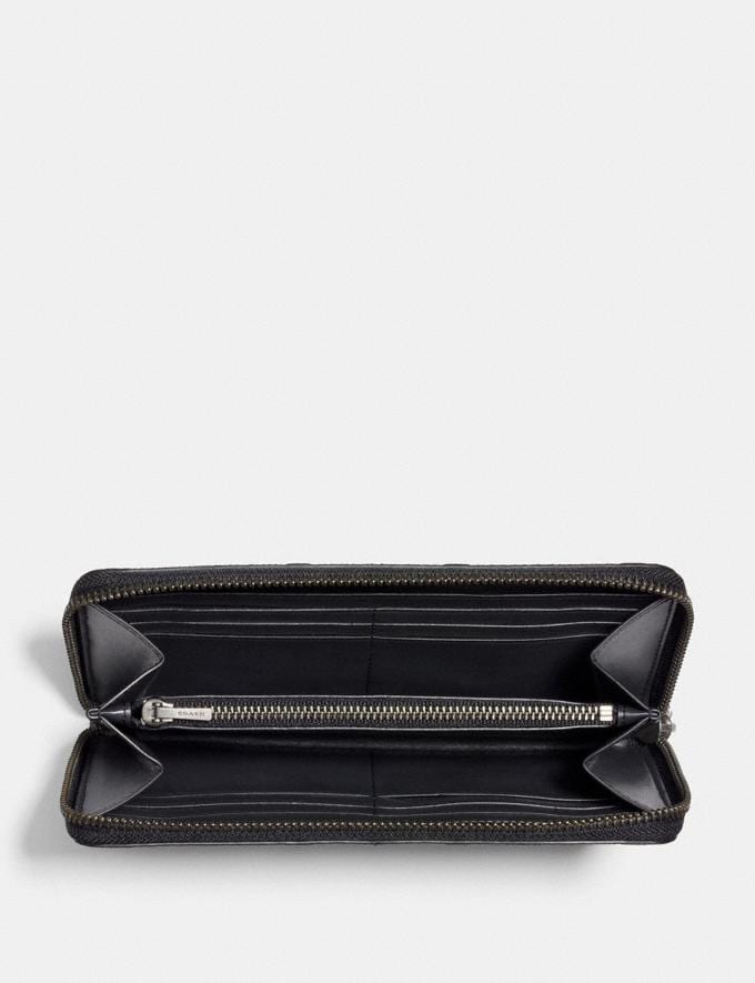 Coach Accordion Wallet in Signature Leather Midnight  Alternate View 1