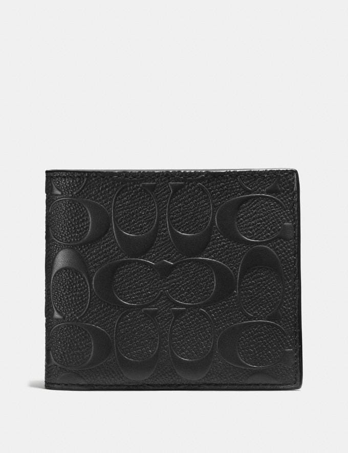 Coach 3-In-1 Wallet in Signature Leather Black Men Wallets
