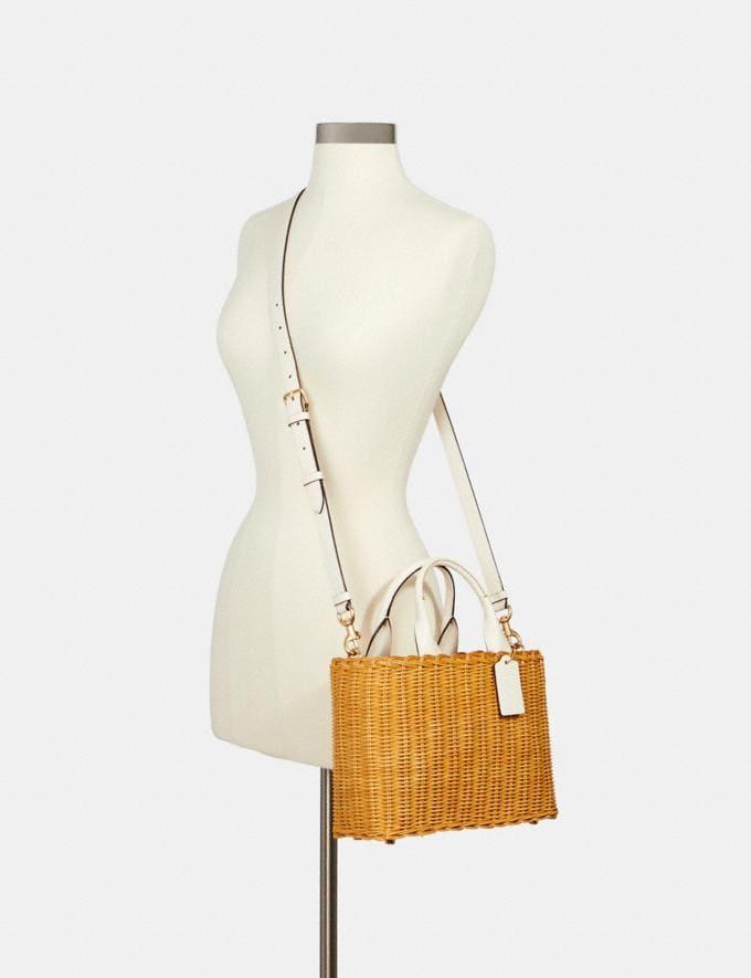 Coach Wicker Carryall Im/Natural Bags Bags Carryalls Alternate View 2