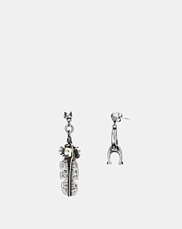 SIGNATURE CHAIN LINK DROP AND FEATHER EARRINGS