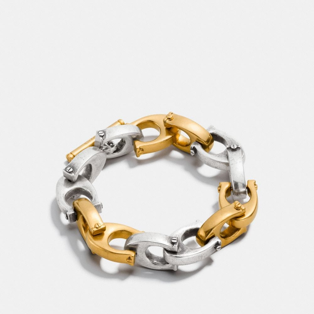 Coach Oversized Signature Chain Link Bracelet