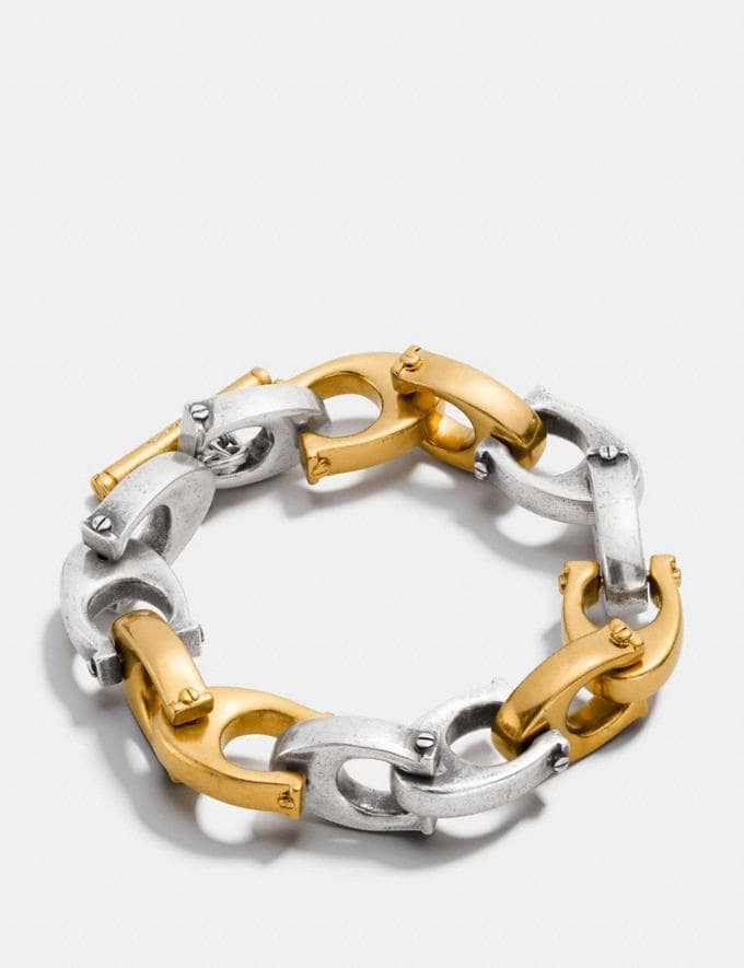 Coach Oversized Signature Chain Link Bracelet Gold/Silver Women Accessories Jewelry Bracelets