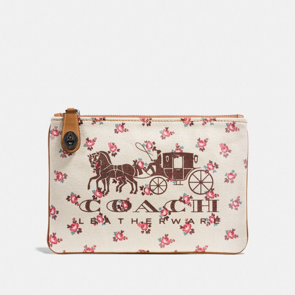 Coach Horse and Carriage Turnlock Wristlet 26
