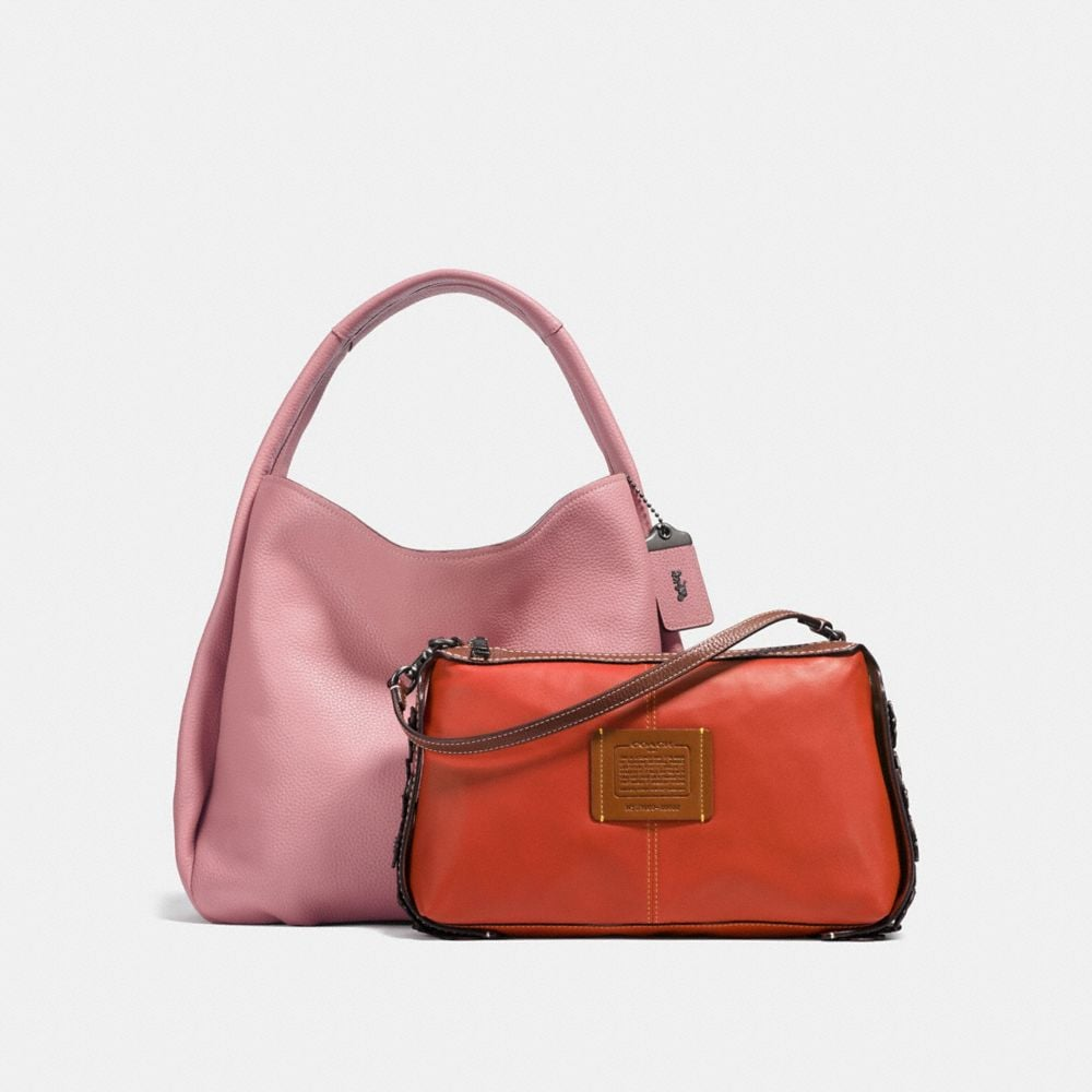 Coach Bandit Hobo 39 With Tea Rose Detail Alternate View 1