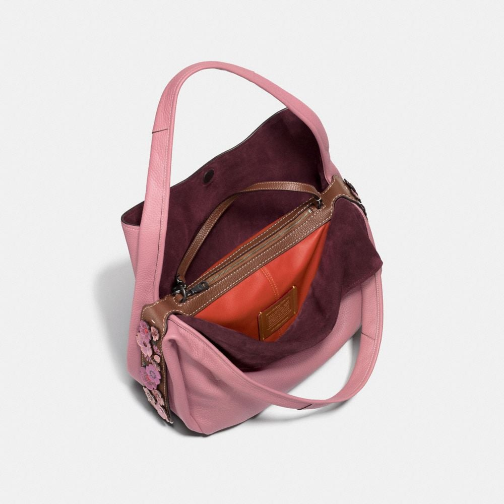 Coach Bandit Hobo 39 With Tea Rose Detail Alternate View 2