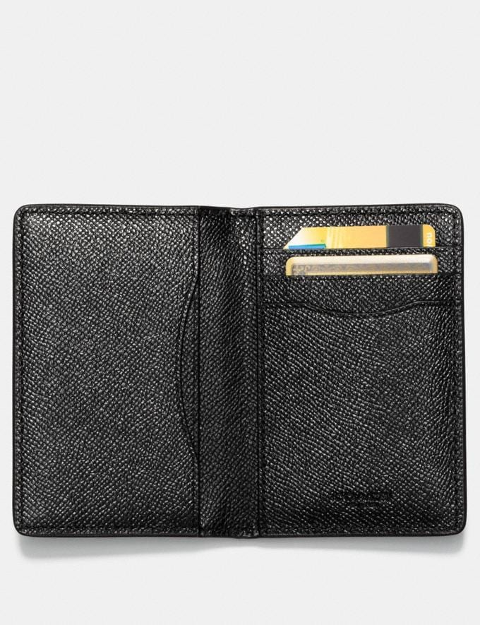 Coach Card Wallet Black Customization Personalize It Monogram for Him Alternate View 1