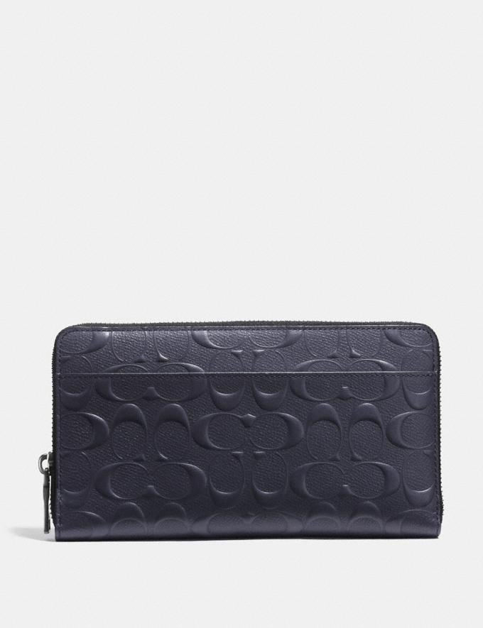 Coach Document Wallet in Signature Leather Midnight