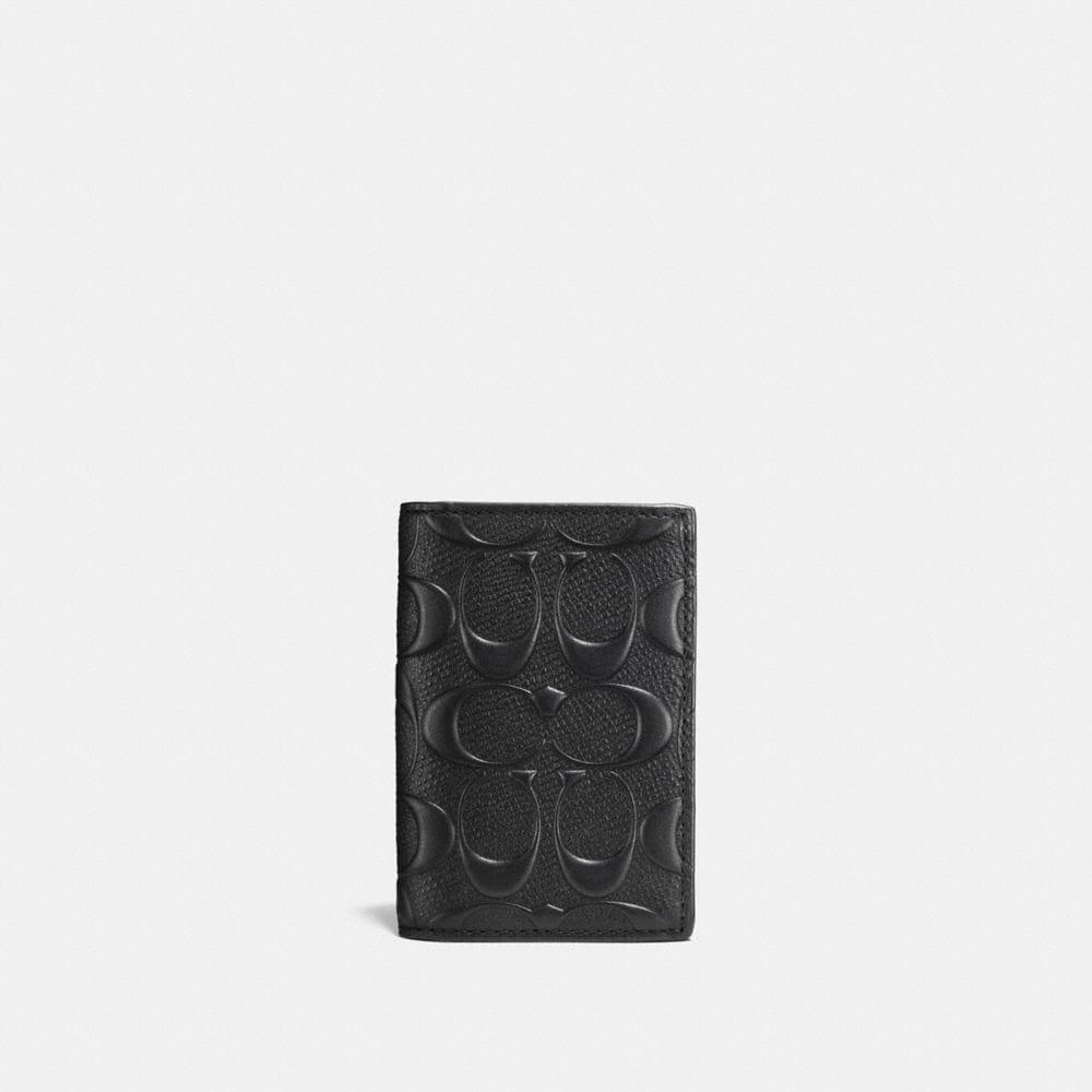 Coach Bifold Card Case in Signature Leather