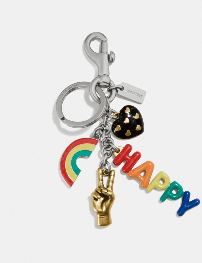 Coach Rainbow Multi Bag Charm Nickel Gift For Her Under €100