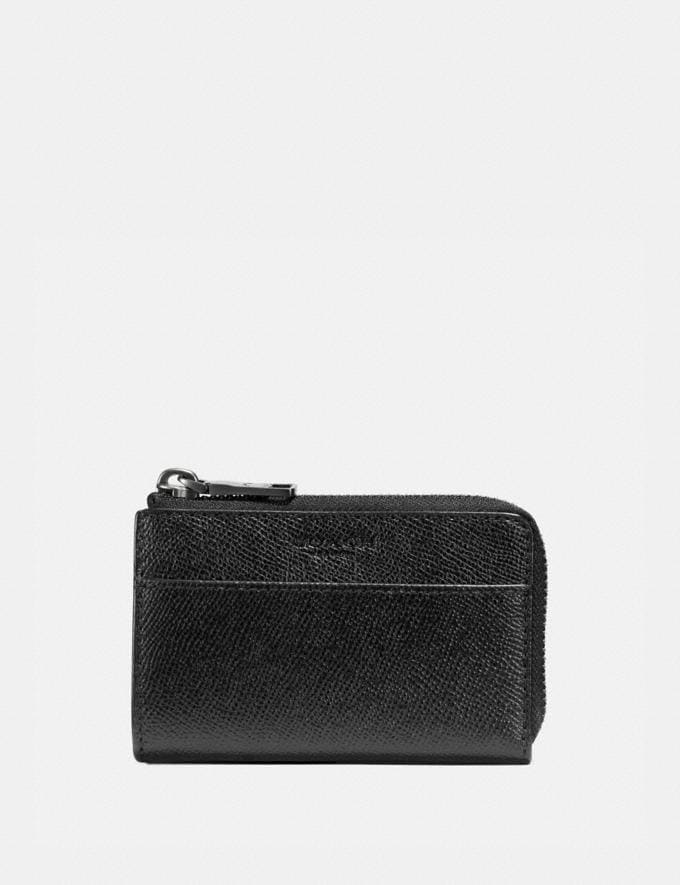 Coach Zip Key Case Black Gifts For Him Under $100