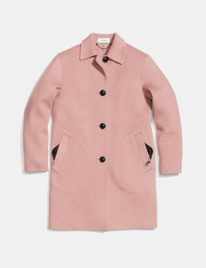 Coach Wool Coat Blush New Featured Online Exclusives