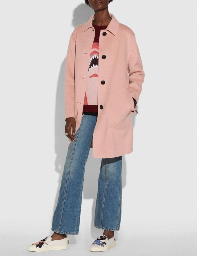 Coach Wool Coat Blush New Featured Online Exclusives Alternate View 1