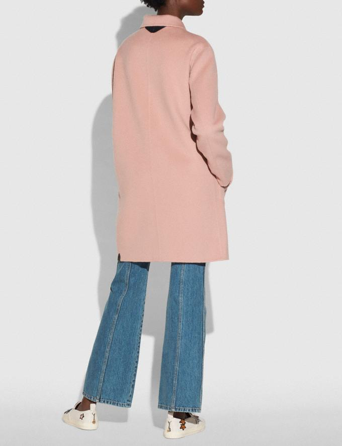 Coach Wool Coat Blush New Featured Online Exclusives Alternate View 2