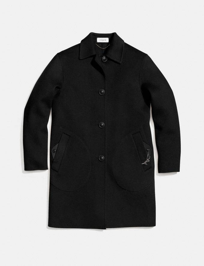 Coach Wool Coat Black SALE Women's Sale Ready-to-Wear