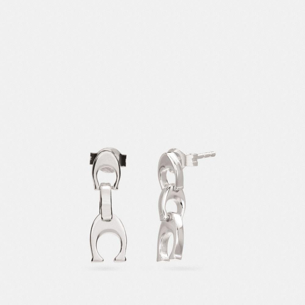 Coach Signature Chain Drop Earrings