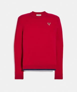 CREWNECK SWEATER WITH REXY PATCH