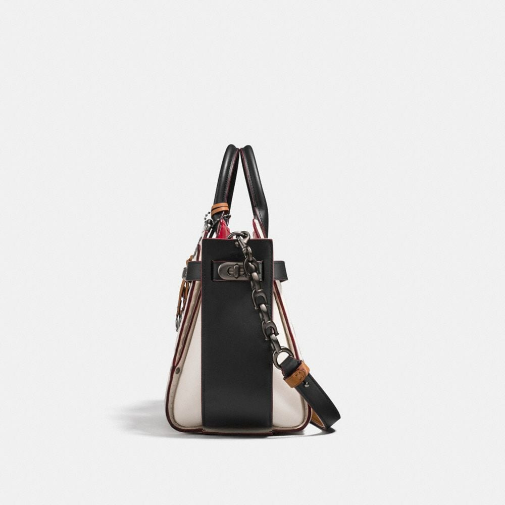Coach Coach Double Swagger With Colorblock Quilting and Rivets Alternate View 1