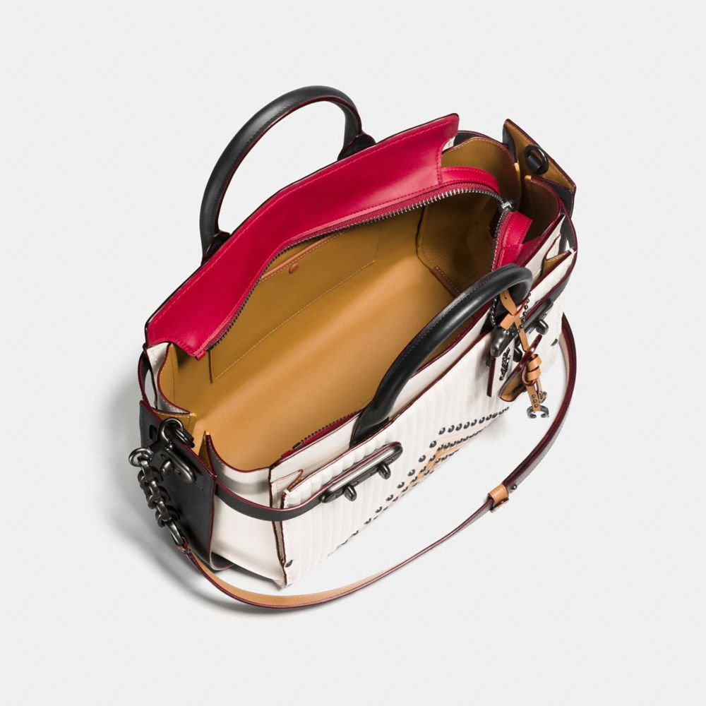 Coach Coach Double Swagger With Colorblock Quilting and Rivets Alternate View 3