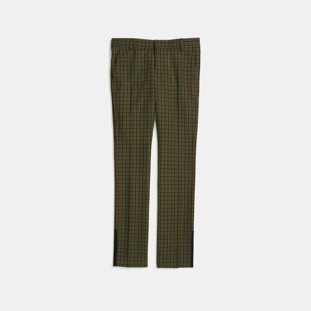 Coach Gingham Straight Leg Trouser Alternate View 1