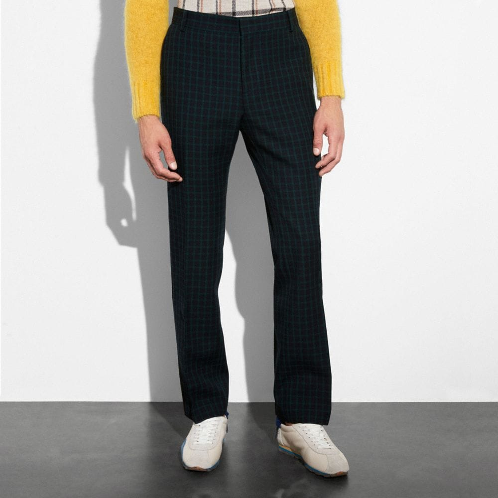 GINGHAM STRAIGHT LEG TROUSER