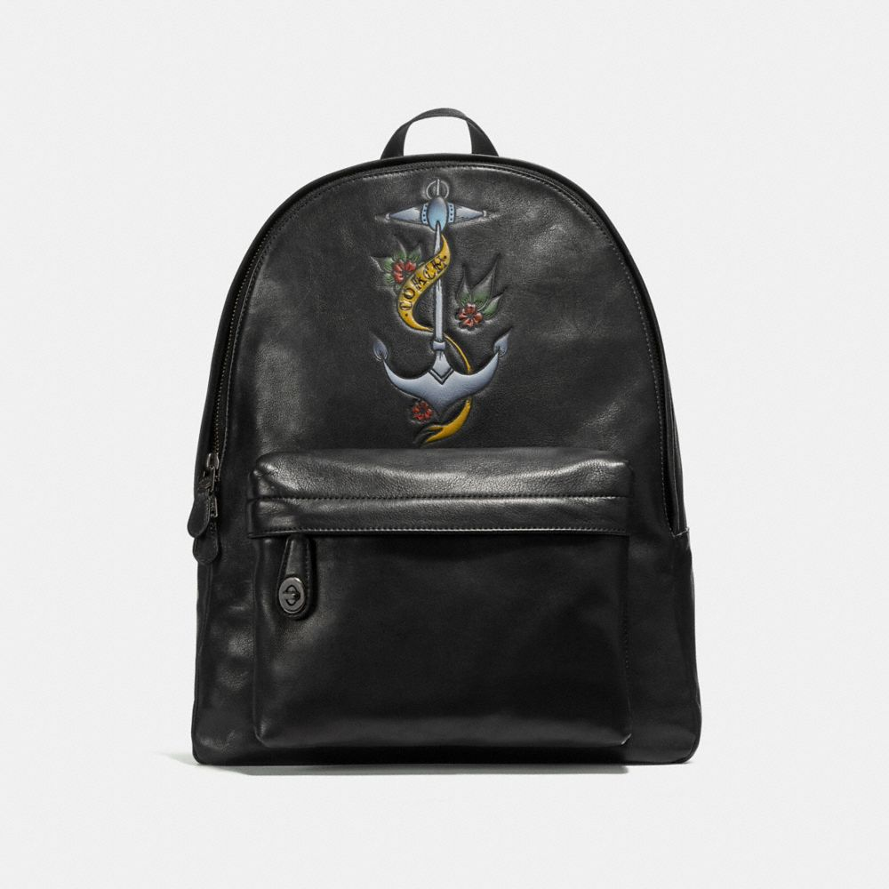 Coach Campus Backpack With Tattoo Tooling