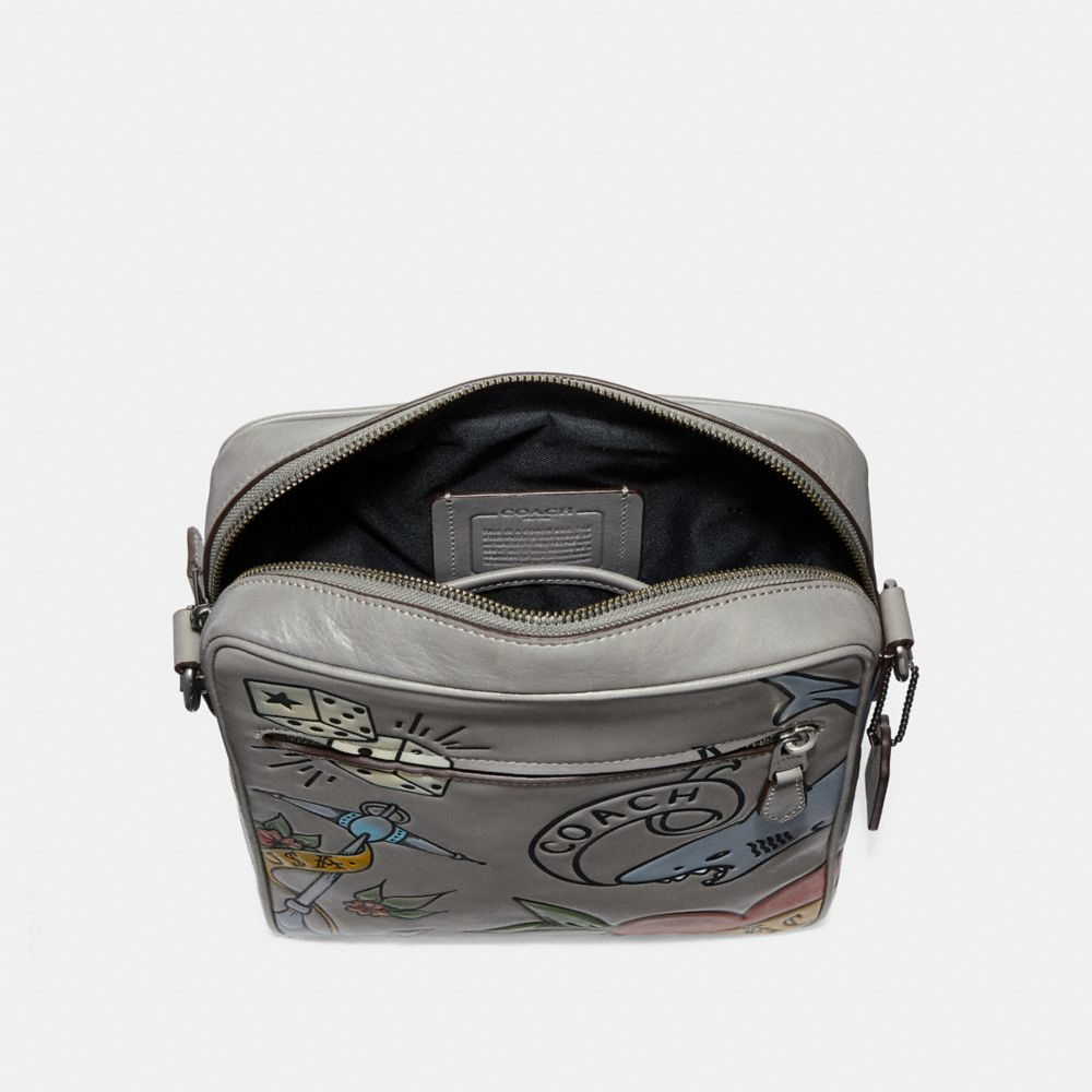Coach Metropolitan Flight Bag With Tattoo Tooling Alternate View 2