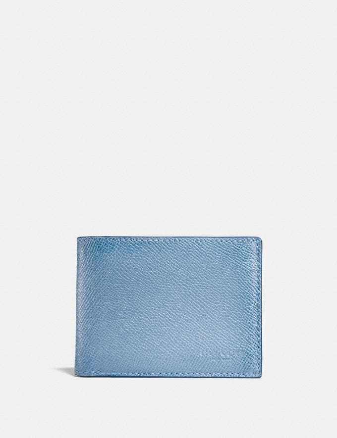 Coach Slim Billfold Wallet Chambray Men Wallets Billfolds
