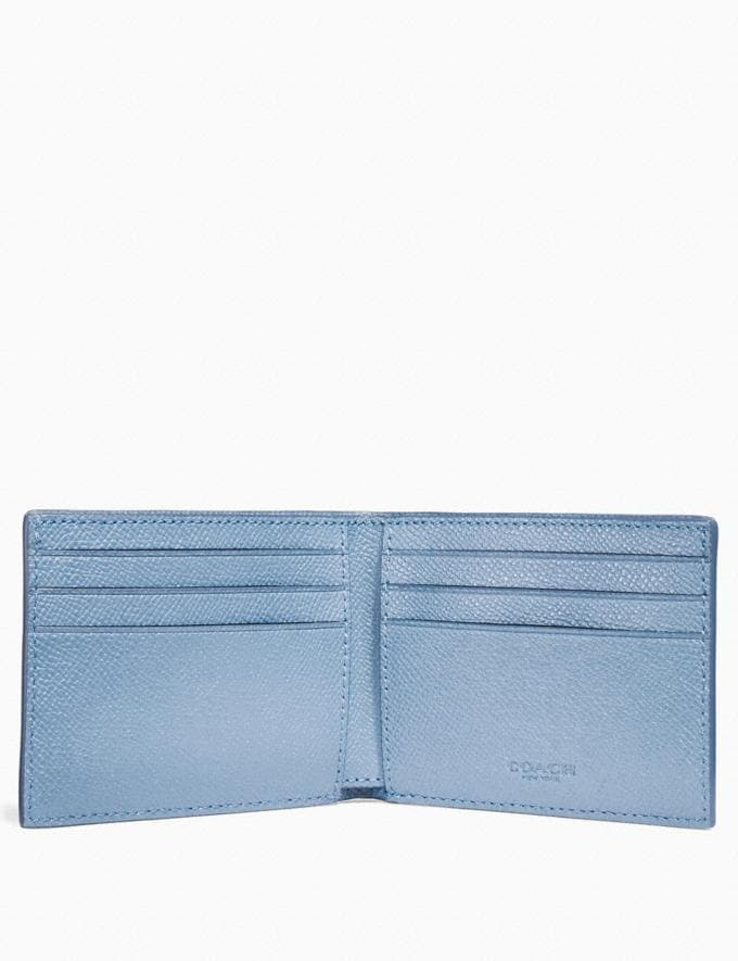 Coach Slim Billfold Wallet Chambray Men Wallets Billfolds Alternate View 1