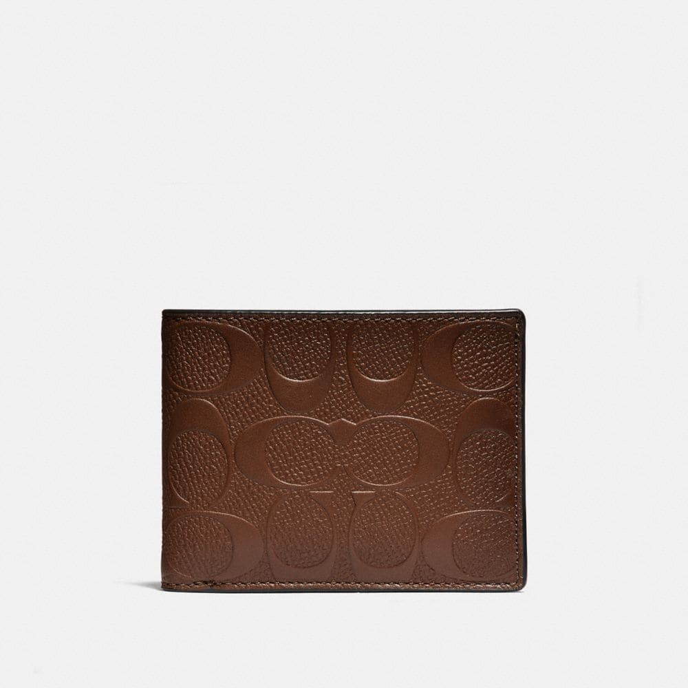 Coach Slim Billfold Wallet in Signature Leather