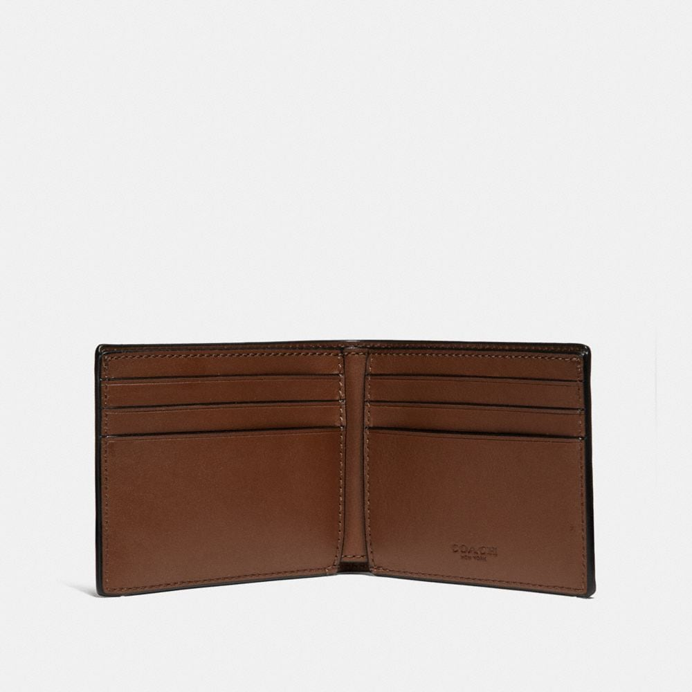 Coach Slim Billfold Wallet in Signature Leather Alternate View 1